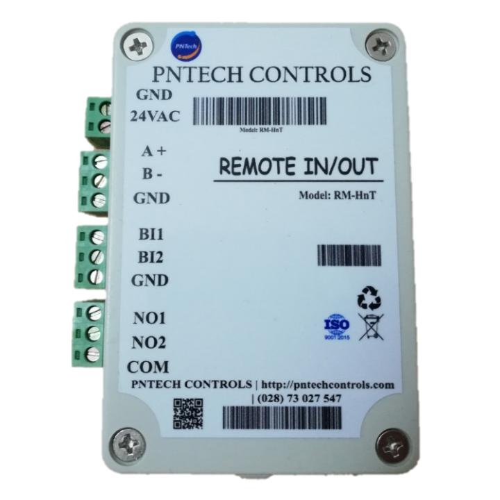 Remote I/O 2BI2RO - Cảm biến Nhiệt - Ẩm & Tích Hợp Modbus RTU 485